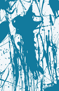Blue Splashing Ink