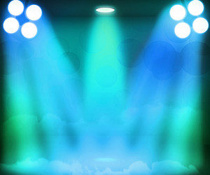 Blue Spotlight Stage Background