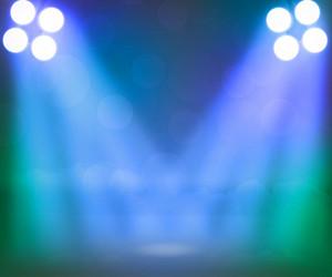Blue Spotlight Stage Background