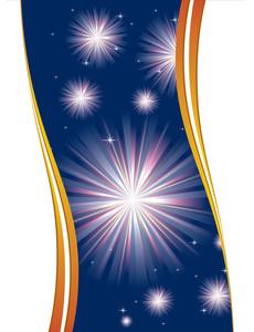 Blue Star Vector Background.