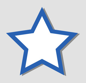 Blue Star Vector Design