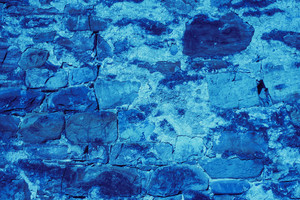 Blue stone wall texture background