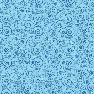 Blue Swirls Pattern