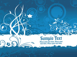 Blue Texture Background With Banner