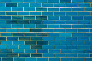 Blue tile wall texture and background.