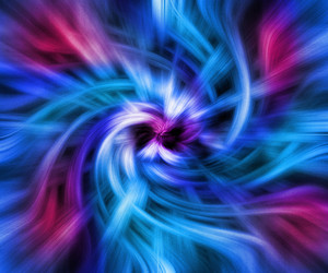 Blue Twisted Abstract Background