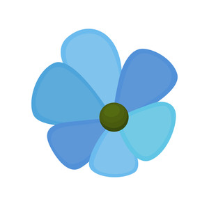Blue Vector Flower