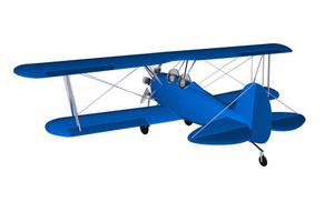 Blue Vintage Plane