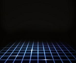 Blue Virtual Laser Floor Background