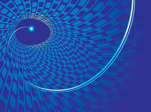 Blue Vortex. Vector Background.