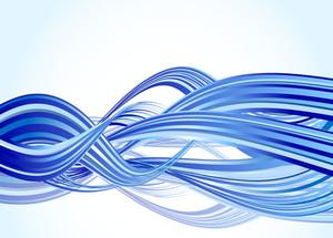 Blue Wave. Vector.