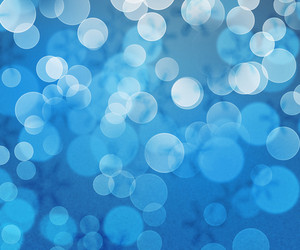 Blue Winter Bokeh Background