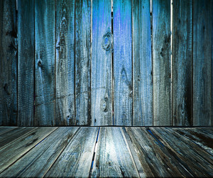 Blue Wooden Floor Background