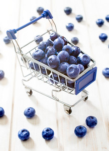 Blueberries In The Trolley