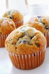 Blueberry Cmuffins On White Background