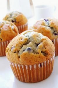Blueberry Cmuffins On White Background