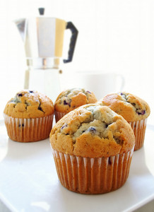 Blueberry Muffins With Coffee