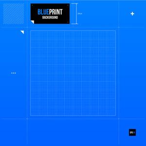 Blueprint Grid Background. Eps10