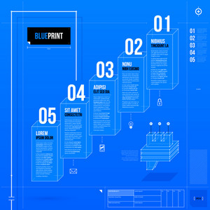 Vector Chart Template In Blueprint Style. Eps10