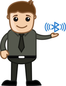 Bluetooth - Business Cartoons Character