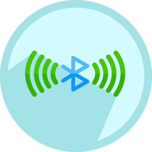 Bluetooth Icon Button