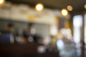 Blurred background Vintage filter Coffee shop blur background with bokeh