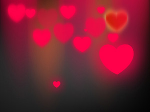 Blurred Pink Abstract Hearts Background