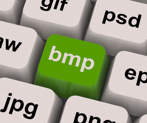 Bmp Key Shows Bitmap Format For Images