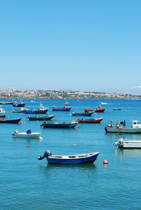 Boat Harbor In Cascais