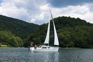 Boat On Lagoon Solinski