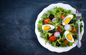 Boiled Eggs Salad