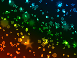 Bokeh Neon Starbursts Background