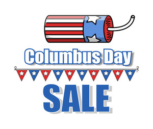 Bomb Vector Columbus Day Sale Banner
