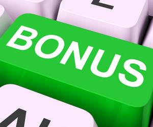 Bonus Key Shows Extra Gift Or Gratuity Online