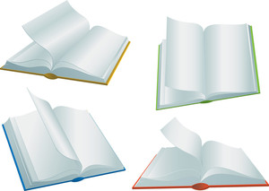 Books. Vector.
