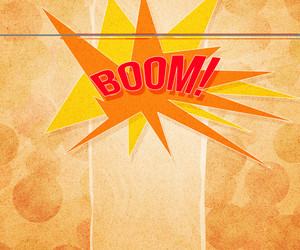 Boom Vintage Background
