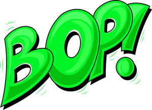 Bop - Comic Expression Vector Text