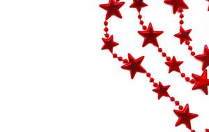 Border Made Of Red Christmas Stars.