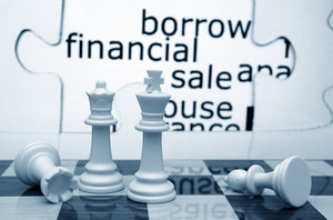 Borrow Financial Sale Chess Concept