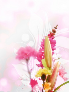 Bouquet Of Flowers Background