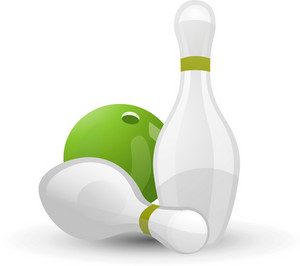 Bowling Pins And Ball Lite Sports Icon