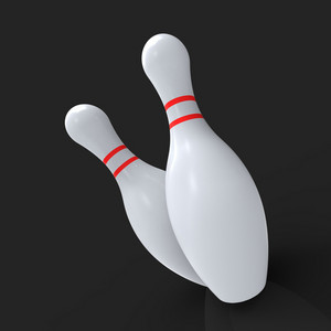 Bowling Pins Showing Skittles Game