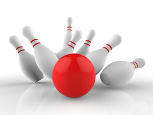 Bowling Strike Shows Skittles Game Success
