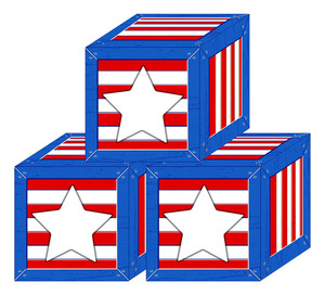 Box Us 4th Of July Independence Day Vector Design