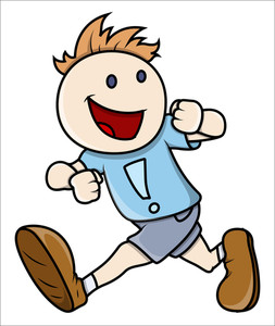 Boy Running - Vector Illustrations