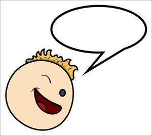 Boy Saying - Speech Bubble - Vector Cartoon Illustration