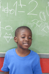 Boy smiling in the school
