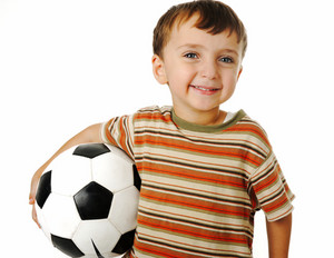 boy with a ball of football