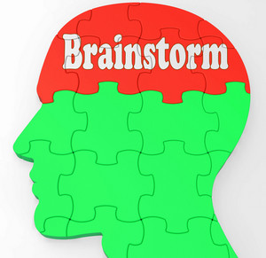 Brainstorm Shows Mind Thinking Clever Ideas