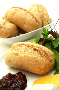 Bread Rolls With Cheese And Pickle